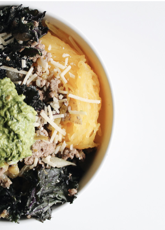 Recipe: Spaghetti Squash and Green Pea Pesto Bowls