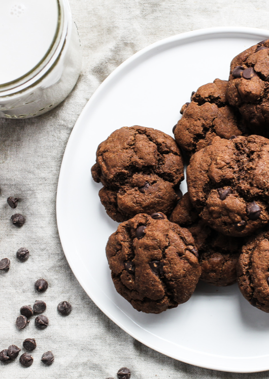 Recipe: Healthy Double Chocolate Chip Cookies