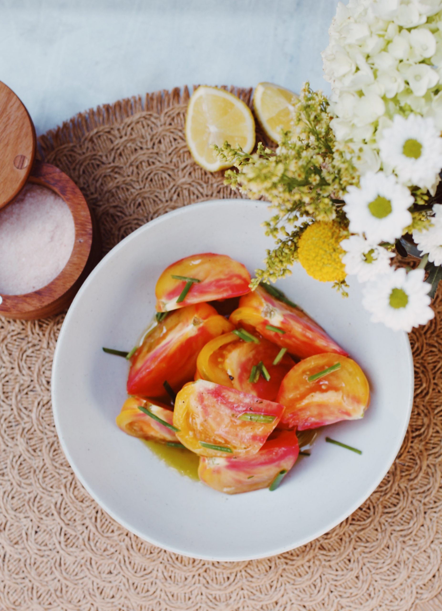 Recipe: Heirloom Tomato Salad with Honey Mustard Vinaigrette
