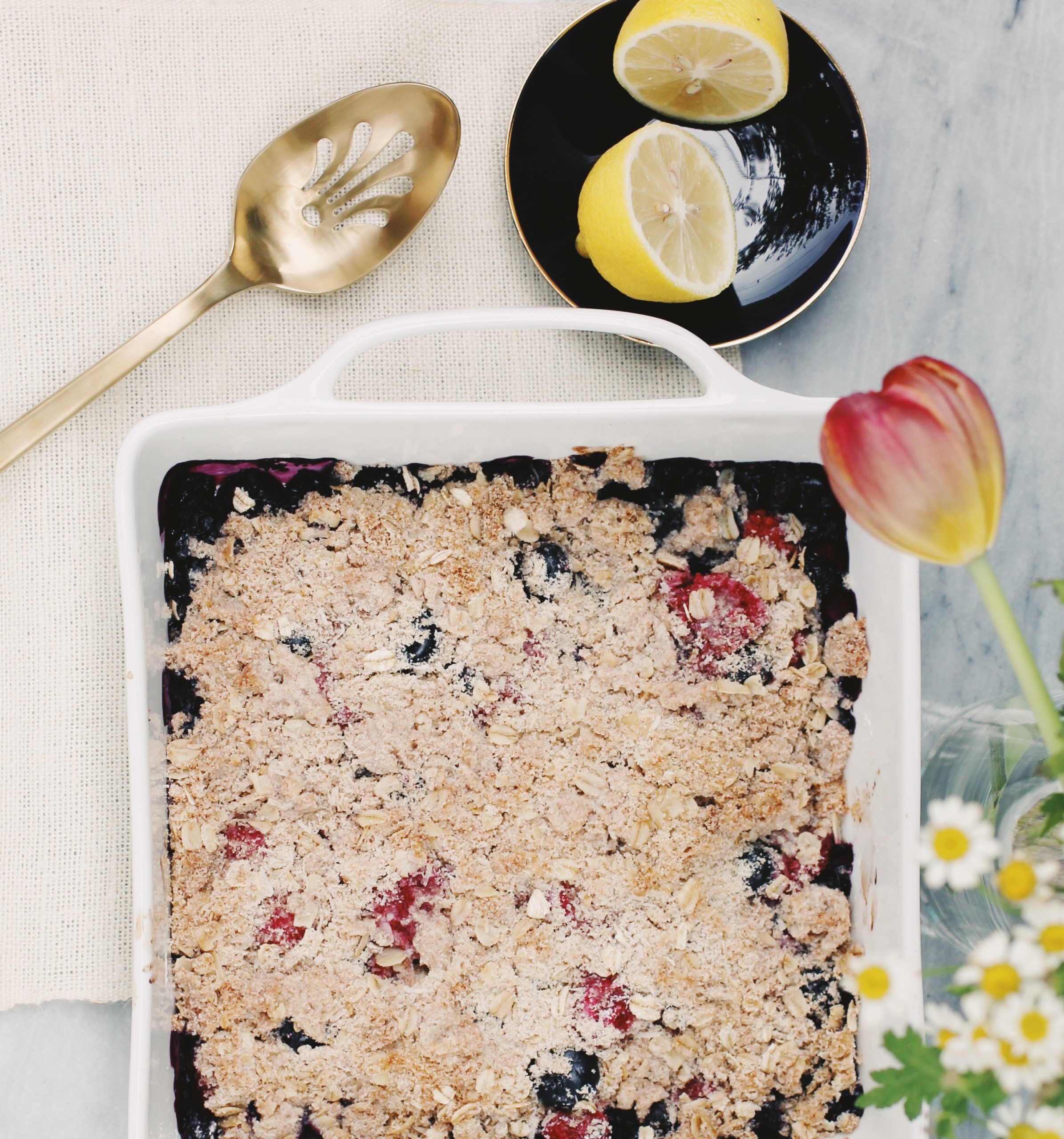 Recipe: Breakfast Berry Crumble